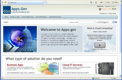 Apps.gov Website